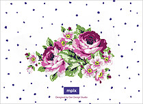 Midnight Rose Reception Reception Flat Cards - Back