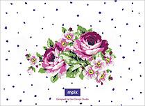 Midnight Rose Reception Reception Flat Cards - Back