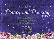 Midnight Rose Reception Reception Flat Cards - Front