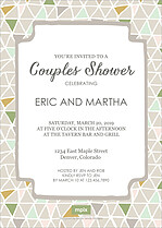 Mr And Mrs Shower Shower Invites Flat Cards - Back