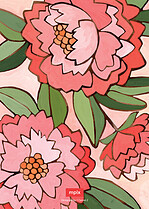 Peaceful Peonies Invite Wedding Invites Flat Cards - Back