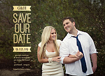 Razzle Dazzle Date Save the Date Flat Cards - Front
