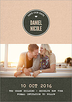 Sheer Bliss Date Save the Date Flat Cards - Front