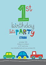 Speedy Delivery Birthday Party Invitations Flat Cards - Front