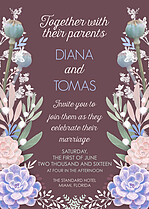 Succulent Garden Invite Wedding Invites Flat Cards - Front
