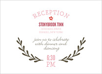 Sweet Forever Reception Reception Flat Cards - Front