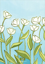 Tidy Tulips Invite Wedding Invites Flat Cards - Back