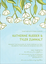Tidy Tulips Invite Wedding Invites Flat Cards - Front
