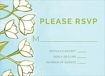 Tidy Tulips RSVP RSVP Flat Cards - Front