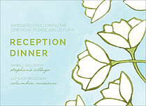 Tidy Tulips Reception Reception Flat Cards - Front