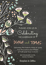 Whole Love Invite Peach Wedding Invites Flat Cards - Front