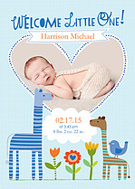 Wild At Heart Birth Announcements Flat Cards - Front