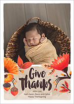 Share The Love Thanksgiving Flat Cards - Front