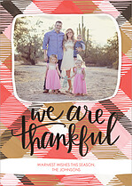 Gratifying Meal Thanksgiving Flat Cards - Front