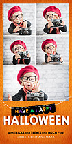 Halloween Flag Halloween Photo Cards - Vertical