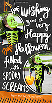 Itsy Bitsy Spider Halloween Photo Cards - Vertical