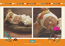 Lovely Pumpkin Thanksgiving Flat Cards - Back