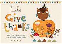 Lovely Pumpkin Thanksgiving Flat Cards - Front