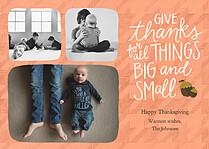 Oak Nut Thanksgiving Flat Cards - Front