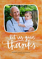Thankful Moments Thanksgiving Flat Cards - Front