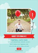 Birthday Balloon Birthday Party Invitations Flat Cards - Back