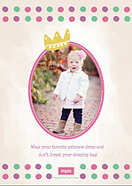 Princess Party Birthday Party Invitations Flat Cards - Back