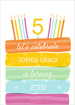 Sweet Sprinkles Birthday Party Invitations Flat Cards - Front