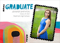 Artistic Statement Graduation Flat Cards - Front