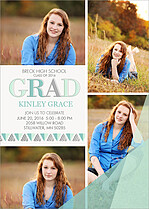 Chill Grad Graduation Flat Cards - Front