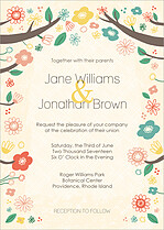 Cumberland Garden Invite Wedding Invites Flat Cards - Front
