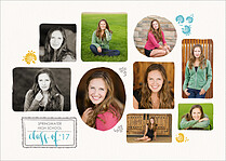 Diploma Time Graduation Flat Cards - Front