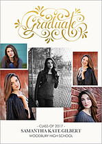 En Vogue Graduation Foil Pressed Cards - Front