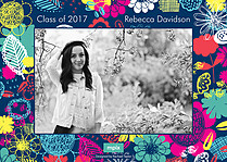 Fantastic Floral Graduation Flat Cards - Back