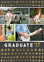 Fine Statement Grey Graduation Foil Pressed Cards - Front