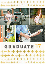 Fine Statement White Graduation Foil Pressed Cards - Front