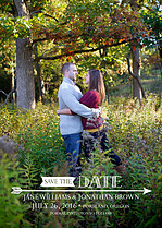 Flying High Date Save the Date Flat Cards - Front