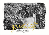Front And Center Pink Graduation Foil Pressed Cards - Front