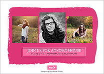 Front And Center Pink Graduation Foil Pressed Cards - Back