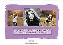 Front And Center Purple Graduation Foil Pressed Cards - Back