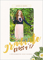 Grand Accomplishment Graduation Flat Cards - Front