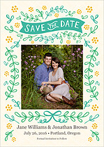 Honeysuckle Sugar Date Save the Date Flat Cards - Front