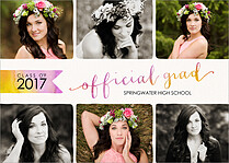 Officially Endorsed Graduation Flat Cards - Front