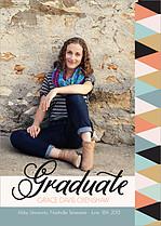 Pastel Fusion Graduation Flat Cards - Front