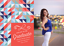 Pop Harmony Graduation Flat Cards - Front
