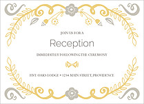 Refined Reception Silver Reception Flat Cards - Front