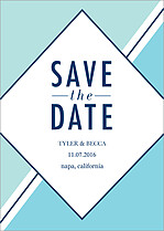 Sea Glass Date Save the Date Flat Cards - Front