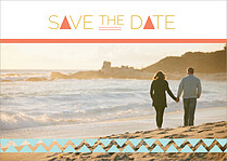 Summer Tide Date Save the Date Flat Cards - Front