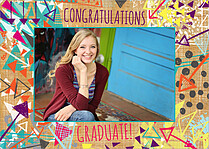 Tribal Arrows Graduation Flat Cards - Front