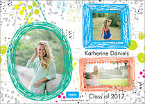 Uplifting Words Graduation Flat Cards - Back