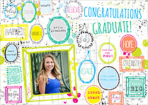 Uplifting Words Graduation Flat Cards - Front